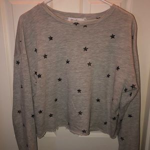 Grey Black Star Crew Neck Sweatshirt!!